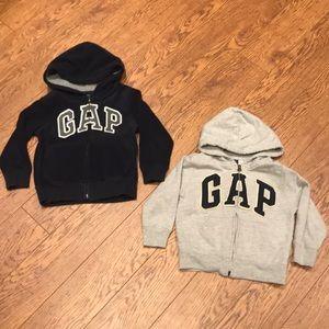 Bundle of 2 Gap hoodies - 4 years old
